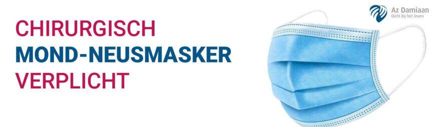 Chirurgisch Mondmasker Verplicht Banner